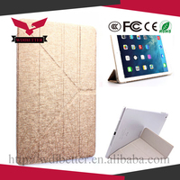 Ultra Slim Magnetic Leather Smart Cover Hard Back Matte Case for iPad Wake/Sleep