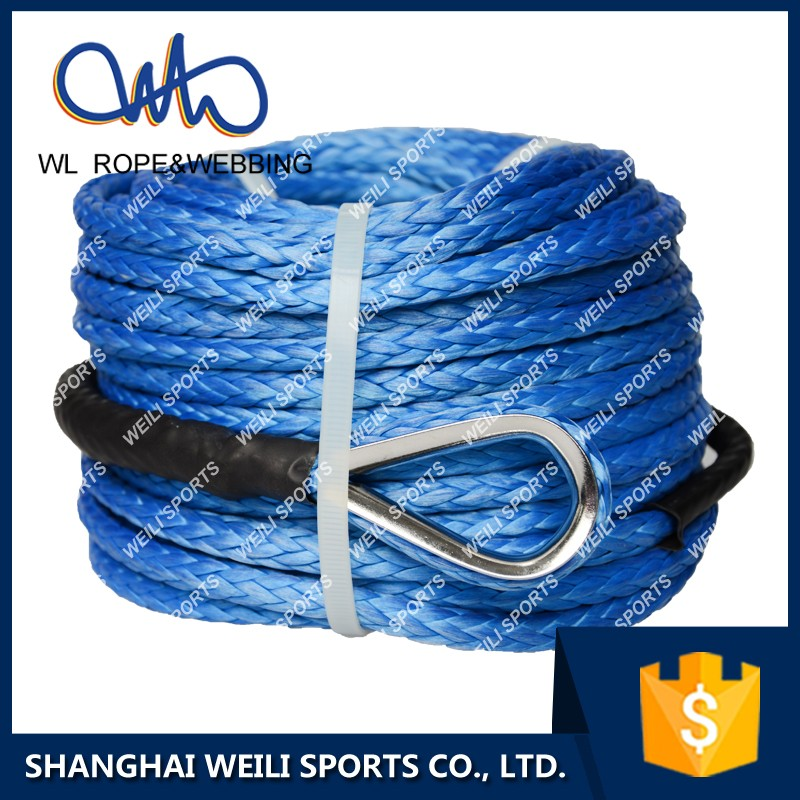 (WL ROPE) Recovery gear off road electric winch rope 8mm 30m synthetic braided rope