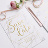 Wedding Card Making Custom Gold Foil Laser Cut Wedding Invitation Cards