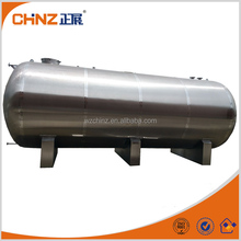 30000L SS horizontal water storage tank with top mahole