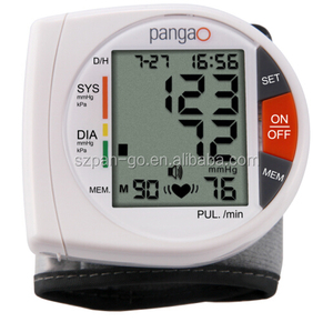 Pangao talking digital wrist blood pressure monitor for home use with CE0413 FDA510k certs