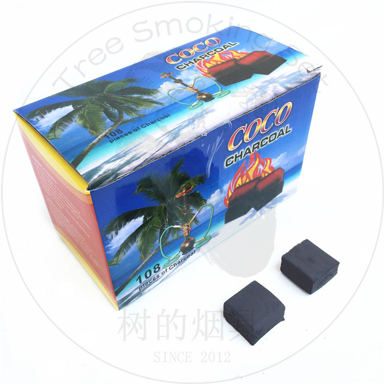 TTAN0026 coco charcoal made by bamboo charcoal flat best price good quality dubai hot sell factory china big manufacturers