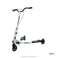 Muliple colors available adult Swing Scooter three wheel folding kick scooter