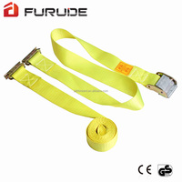 High tensile wheel tie downs flat hook ratchet straps