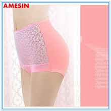 breathable rose lace ladies sexy thermal underwear/transparent women wearing panties
