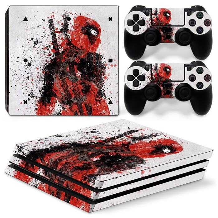 Wholesale video game Skin sticker cover full body for ps4 pro for Sony playstation4 pro Console + 2 New Controller