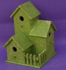 handmade unfinished green roof cheap wooden bird house wholesale