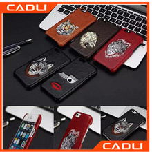 For iPhone 6 Case 3D Embroidery Flirting Eyelashes Lips Tiger Wolf Leopard Pattern Leather Phone Cases Cover For iPhone 6 6S