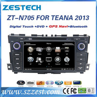 touch screen car dvd for Nissan Teana 2013 double din car dvd gps player with RDS TV BT GPS DVD CD Mirror link