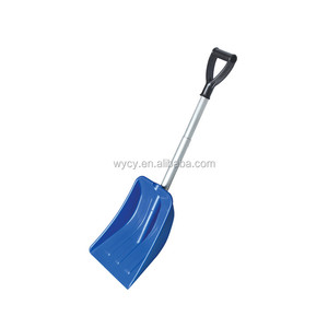 Collapsible light weight kids plastic snow pusher shovels