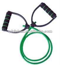 Latex tube multi gym exercise equipment