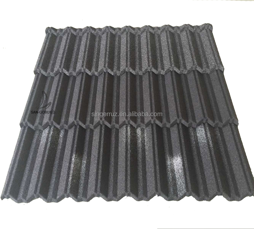 30years Color warranty brand Sangobuild roofing sheet stone coated metal roofing shingles in Kenya/Nigeria