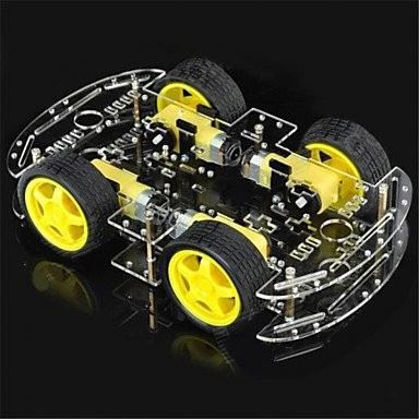 Educational DIY Dual Layer 4Wheel Drive Smart Robot Car Chassis kit