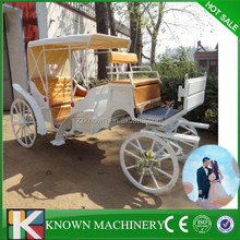 2016 Novelty horse drawn carriage for wedding