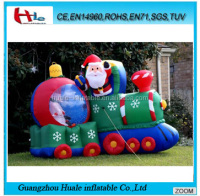 Outdoor inflatable train christmas, inflatable christmas products