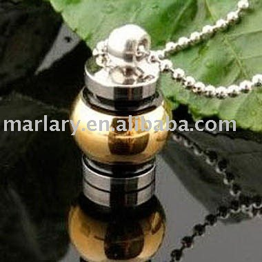 wholesale stainless steel cremation urn pendant to ash