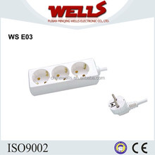 3-way power socket outlet