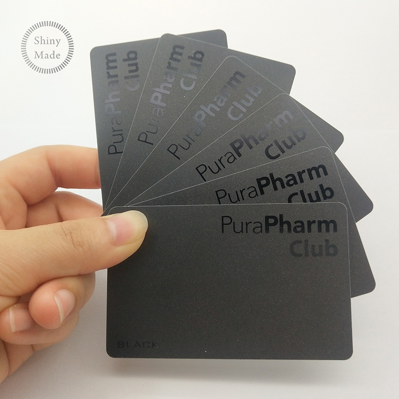 Black white compartment PVC plastic card blank custom LOGO plastic PVC card