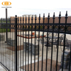 wholesale fence factory prefabricated steel fence ,cheap wrought iron fence spearhead