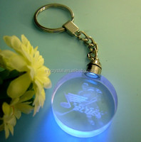 3d laser engraving crystal keyring with led light MH-YS0053