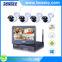 Bessky HDMI 8 Channel h.264 dvr with LCD Security system CCTV wireless dvr kit