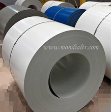 Colour coated galvanized steel coil.