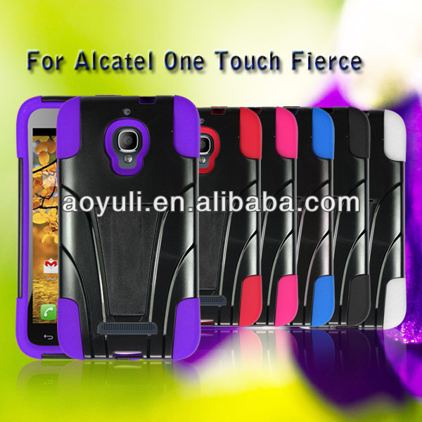 fantastic case for phone with 3D image, T-shape kickstand case for Alcatel one touch Fierce