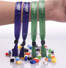 wholesale customzied woven polyester festival wristbands