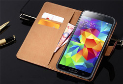 Ultra Thin PU Leather Flip Cover Case For Samsung Galaxy S6