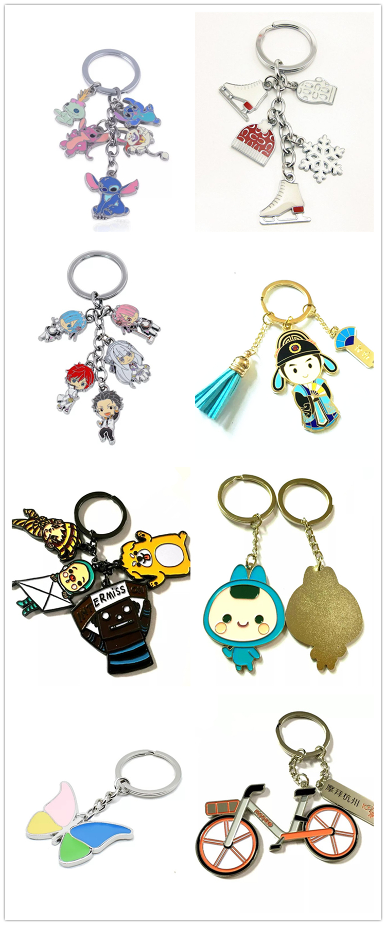 cheap Keychain   animation character  soft enamel keyring