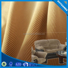 Warp Knitted Polyester 8W Corduroy Stripe Upholstery Fabric for Sofa
