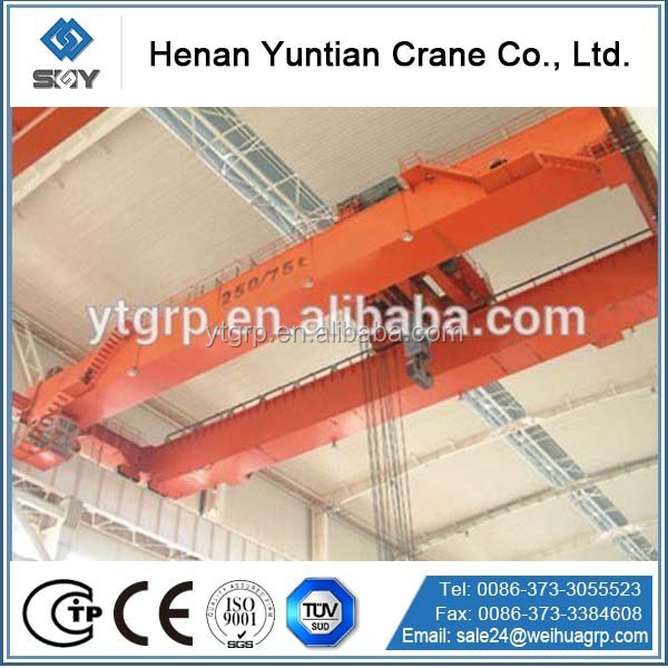 Chinese Famous Crane Manufactures Produced International Standard QD double beam overhead Crane