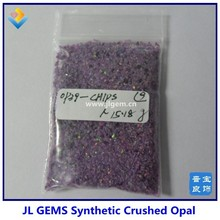 2015 OP39 amethyst color synthetic white opal crushed/small opal