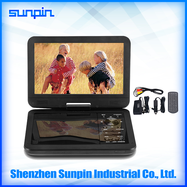 Sunpin OEM 10 inch region free portable dvd players low price