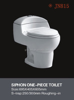 JN815 Siphone one piece S-trap ceramic toilet