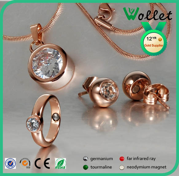 fashion top selling stainless steel 18k italian gold plated jewelry sets