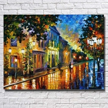 Canvas Art Abstract Oil Painting Wall Art Decor Village Landscape