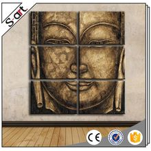 Factory supply best-selling handmade art buddha face oil painting