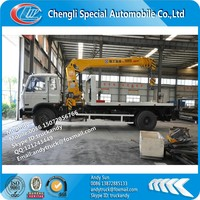 Dongfeng 8 ton wrecker truck towing truck with crane