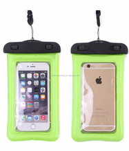 Hot selling eco-friendly custom durable portable transparent mobile phone accessory PVC waterproof bag for swimming