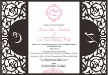 2016 Custom design - blank Laser Cut Wedding Invitation with buckle
