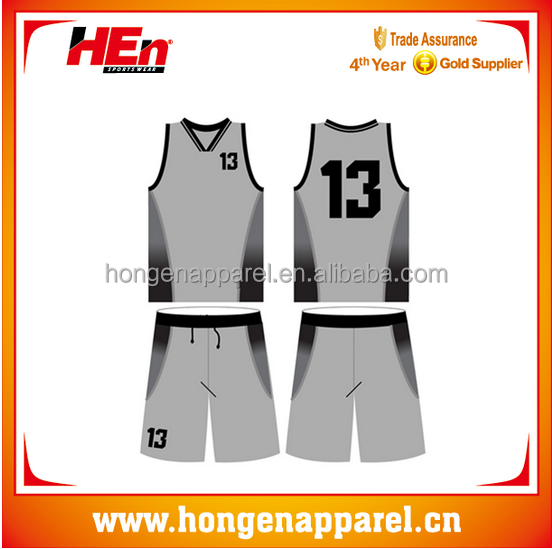 2015 philippines custom sublimation basketball jersey uniform design blank/best basketball jersey for men grey