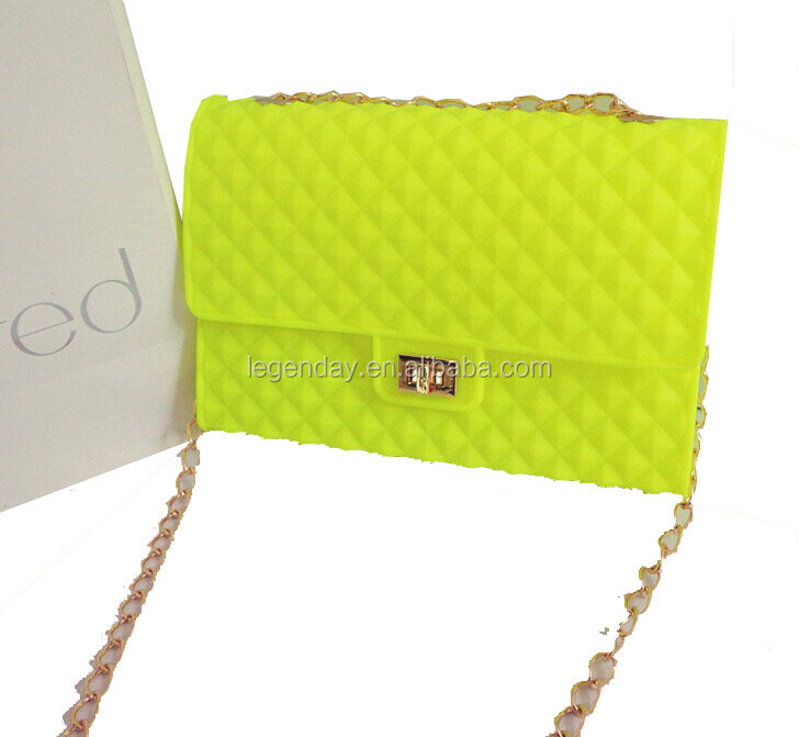 New style silicone metal chain purse made in China