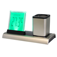 7 colour change Calendar office big digital clock