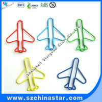 Rational construction mini colorful airplane paper clip