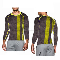 (Trade Assurance) men Outdoor Running Fitness Compression Base Layer Sport Wear