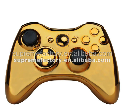 Gold Wireless Controller Shell Housing Replacement with D-Pad For Xbox 360