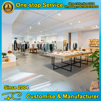 Simple style retail clothing store furniture modern display stand clothing display racks