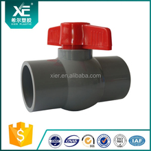 Made In China Plastic Enviroment 1/2 Inch Pvc Ball Valve With Plastic Handle And Ball For Water