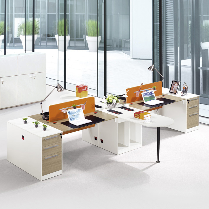 2 Person Modern Office Furniture Specification 3 Drawer Desk Executive Table